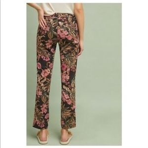 Chino by Anthropologie NWT Black Floral Pants 26